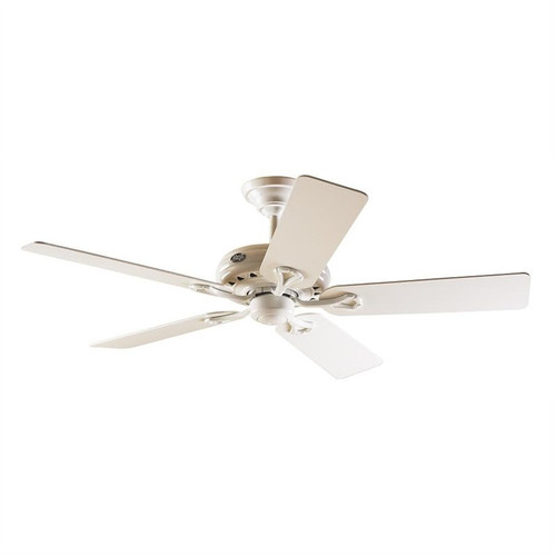 "Savoy 52"" White with White/Light Oak Blades Ceiling Fan"