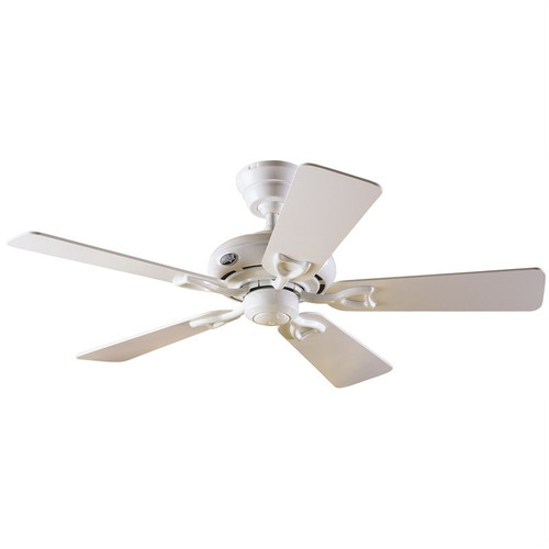"Seville II 44"" White with White/Light Oak Blades Ceiling Fan"