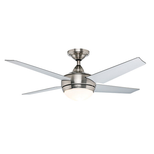 """Sonic 52"""" Brushed Nickel with Grey Blades Ceiling Fan"""
