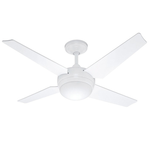 """Sonic 52"""" White with White Blades Ceiling Fan"""