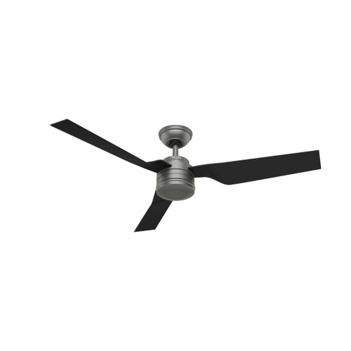 """Cabo Frio 52"""" Matte Silver with Matte Black Outdoor Moulded Blades Ceiling Fan"""