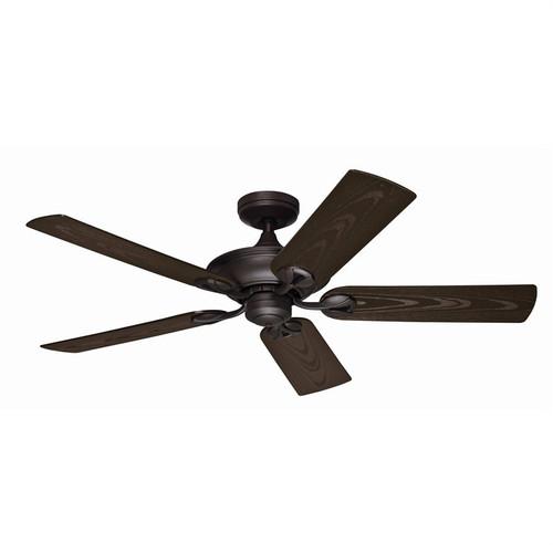 """Maribel 52"""" New Bronze with Outdoor Walnut/Plain Plastic Blades Outdoor Ceiling Fan"""