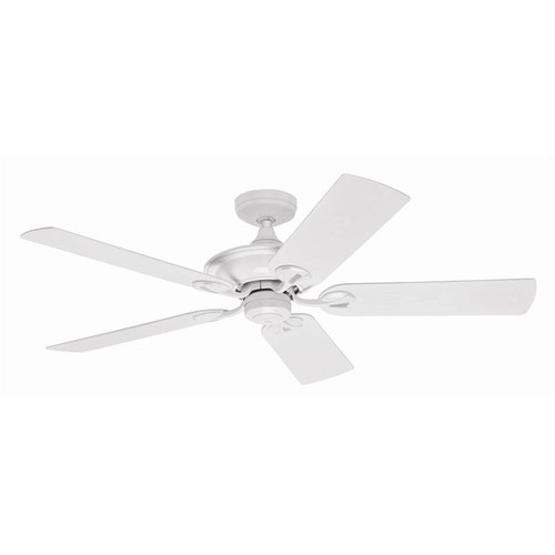 """Maribel 52"""" White with Outdoor White Plastic Blades Outdoor Ceiling Fan"""