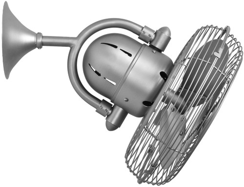 """Kaye 13"""" AC Brushed Nickel Metal Blades and Safety Cage Wall/Ceiling Fan"""