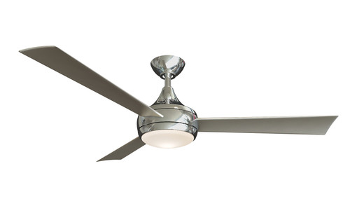 """Donaire 52"""" AC Brushed Stainless Steel Ceiling Fan with Light"""