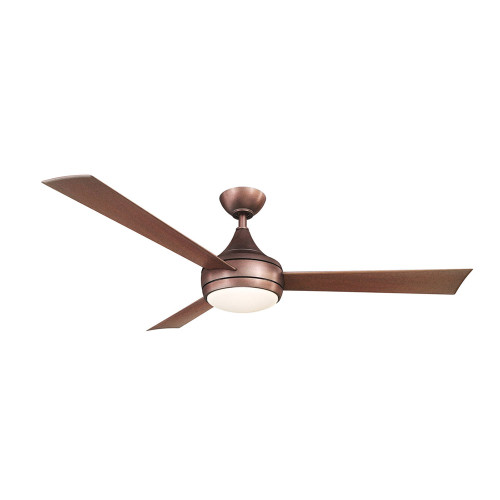 """Donaire 52"""" AC Brushed Bronze Steel Ceiling Fan with LED Light"""