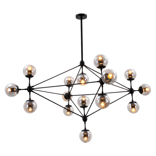 Replica Jason Miller Modo 15 Bulb Chandelier - Black