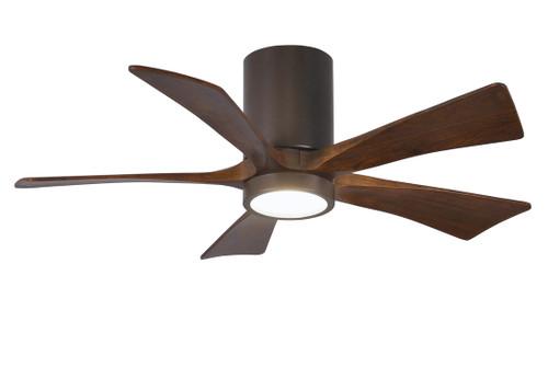 "Irene Hugger 5 60"" DC Textured Bronze Blades Ceiling Fan with LED Light"