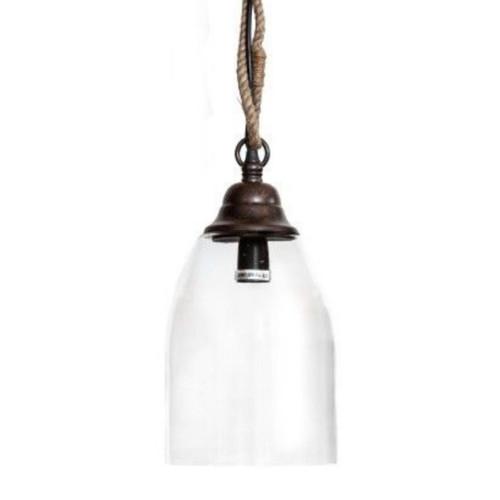 Bailey Bell Clear Glass Pendant Light
