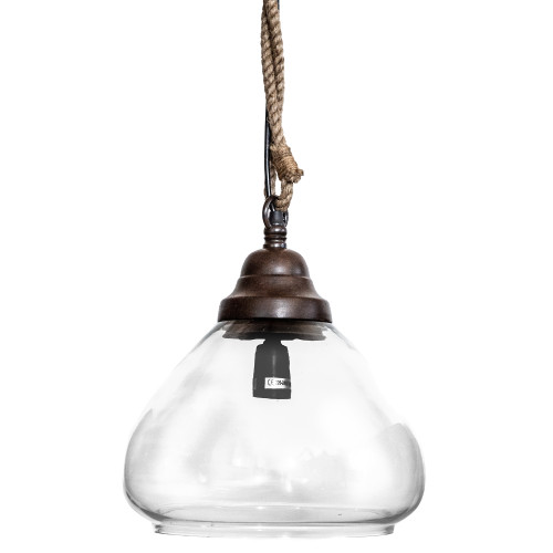 Bailey Conical Clear Glass Pendant Light