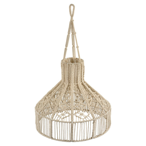 Bexley Macrame Cone With Tassels Off White Pendant Light