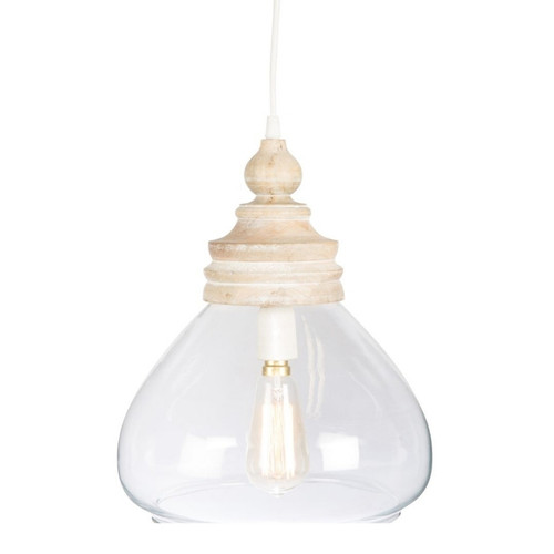 Haven Glass and Wood Pendant Light
