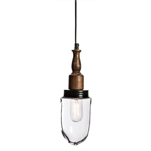 Eldon Vintage Glass and Timber Pendant Light