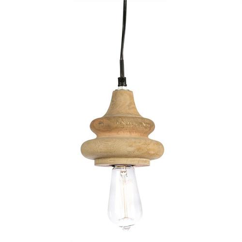 Evans Glass Mango Wood Pendant Light