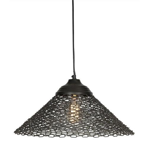 Black Chain Link Iron Industrial Pendant Light
