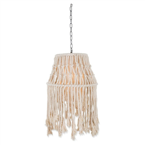 Alfie Cotton Rope Industrial Pendant Light