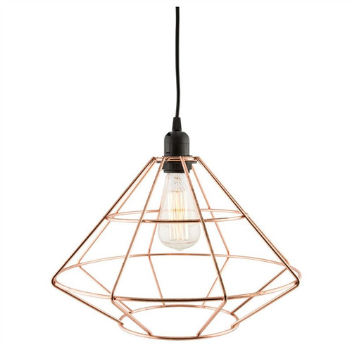Riley Iron Diamond Geometric Copper Pendant Light