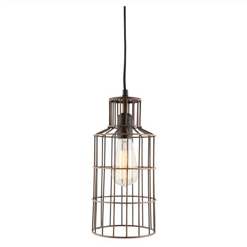 Bottle Galvanized Iron Wire Antique Zinc Industrial Pendant Light
