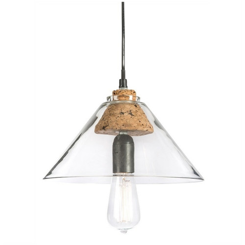 Cone Glass with Cork Holder Pendant Light