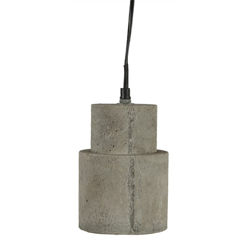 Cylindrical Rough Concrete Industrial Pendant Light