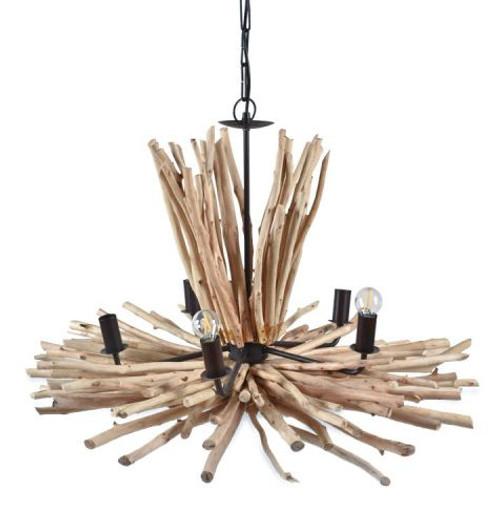 Maren 5 Light Natural Driftwood Pendant Chandelier