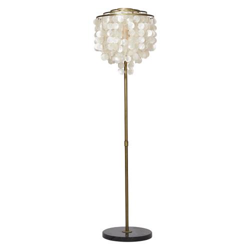 Astrid Capiz Shell Tiered Floor Lamp