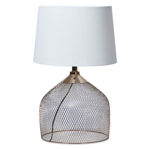Alora Mesh Rose Gold Metal Table Lamp