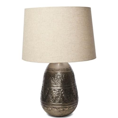 Jasper Metal Work Iron With Fabric Shade Table Lamp