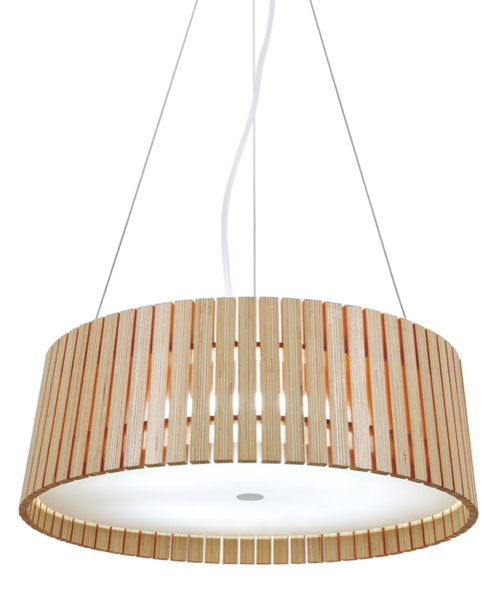 Round Wooden Pendant Lamp
