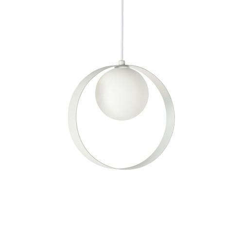 ABC Round White Pendant Light