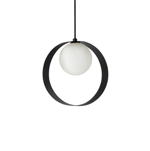 ABC Round Black Pendant Light