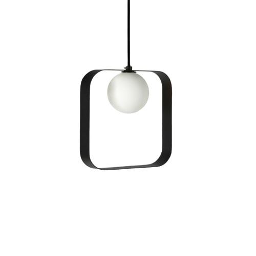 ABC Square Black Pendant Light