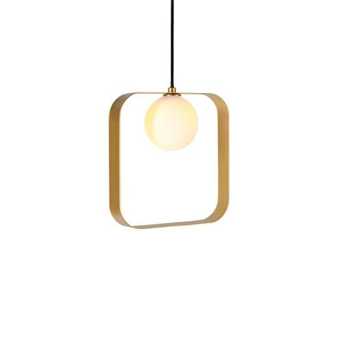 ABC Square Gold Pendant Light