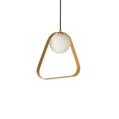 ABC Triangle Gold Pendant Light