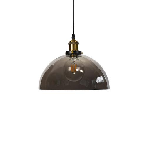 Ada Dome Smoke Glass Pendant Light