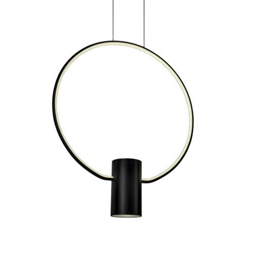 Aurora Ring Black LED Pendant Light - Large