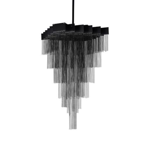 Chandon Black Cascading Metal Pendant Light