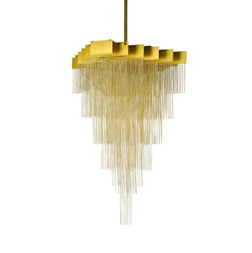 Chandon Gold Cascading Metal Pendant Light