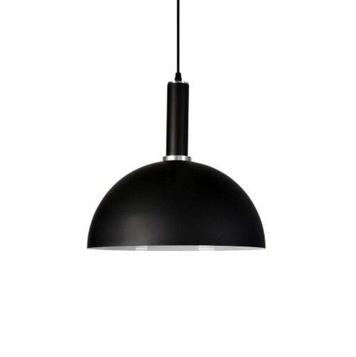 Cleo Dome Black Metal Pendant Light - Medium