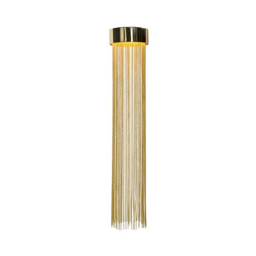 Felicity Gold Metal Drape Close To Ceiling Light - Small
