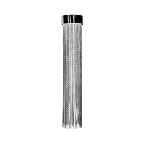 Felicity Nickel Metal Drape Close To Ceiling Light - Small