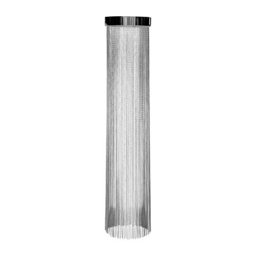 Felicity Nickel Metal Drape Close To Ceiling Light - Large
