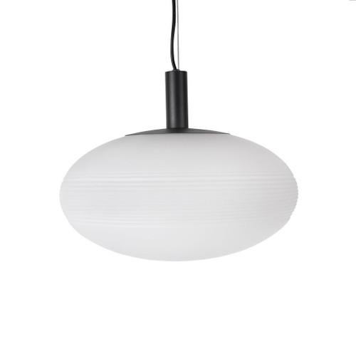 Global Oval Opal White Glass Pendant Light - Large