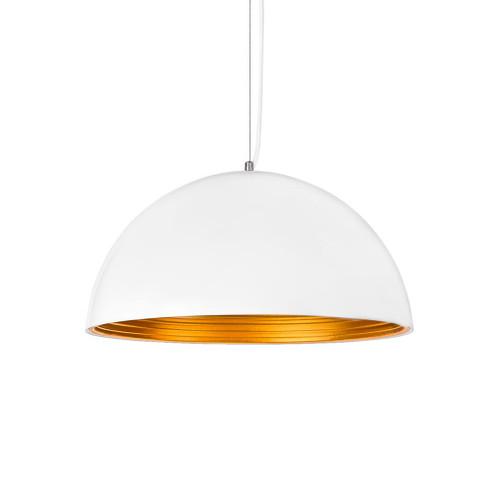 Hazel Dome White and Gold Pendant Light