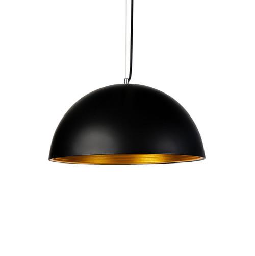 Hazel Dome Black and Gold Pendant Light