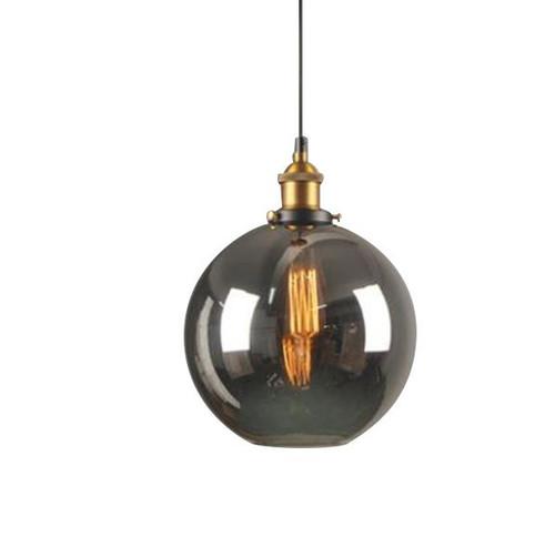 Isla Round Smoke Grey Glass Pendant Light