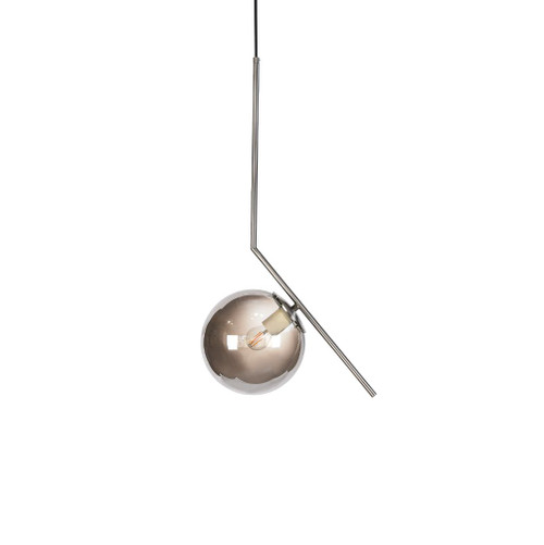 Luna Nickel and Smoke Pendant Light