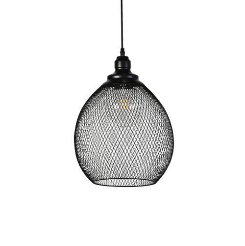 Audrey Black Mesh Small Pendant Light