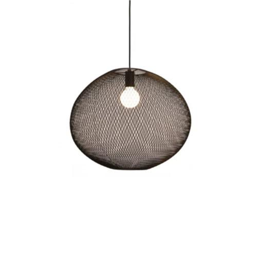 Random Oval Black Mesh Minimalist Pendant Light
