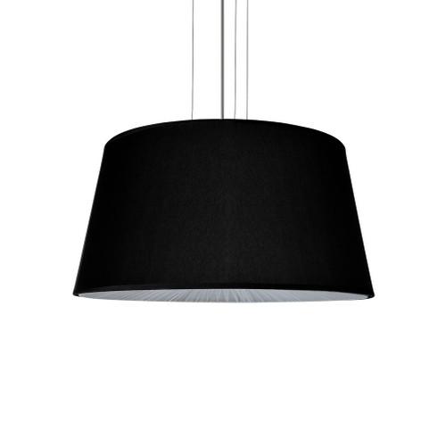 Drum Black Fabric Shade Pendant Light